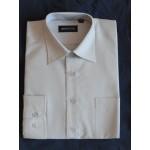 Рубашка мужская дл. рукав бежевая