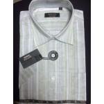 Рубашка мужская с коротким рукавом RETTEХ беж с водн.знаком