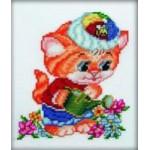 """Набор для вышивания РТО """"Котёнок и цветы"""""""