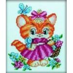 """Набор для вышивания РТО """"Котёнок и бабочки"""""""